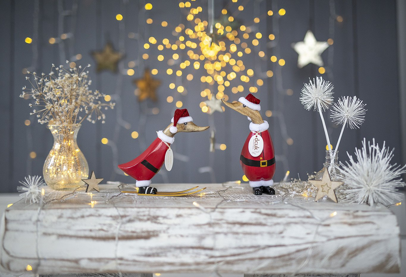 Wooden Christmas Santa Ducklings by DCUK