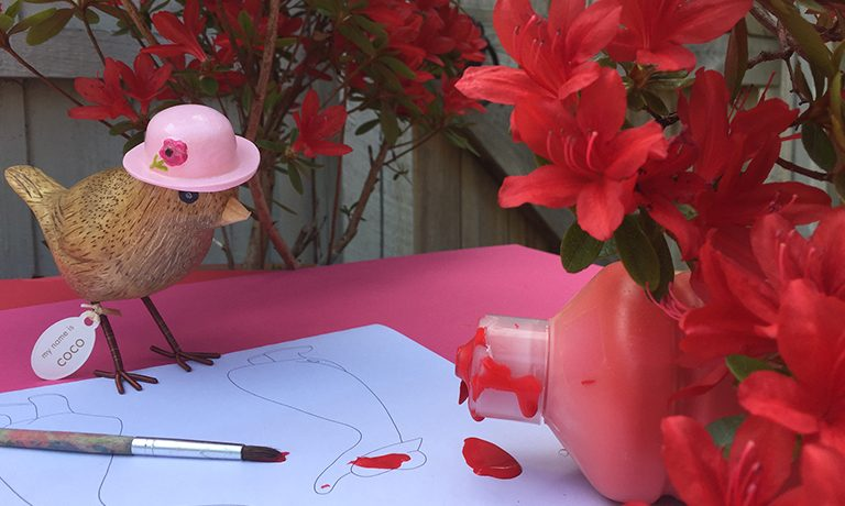 Design a Duck  with Flower Garden Birds