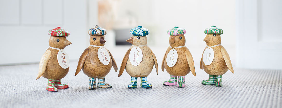 Baby Emperor Penguins with Tartan Hat and Welly Boots