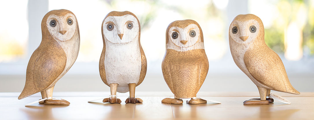 Natural Finish Barn Owls