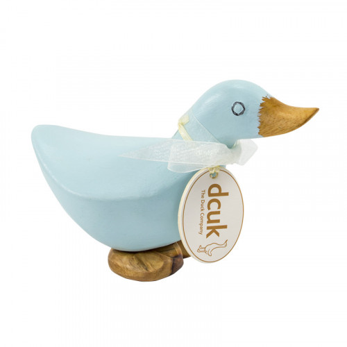Wooden Baby Ducky Blue
