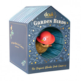 Flower Garden Bird with a Strawberry Red Hat