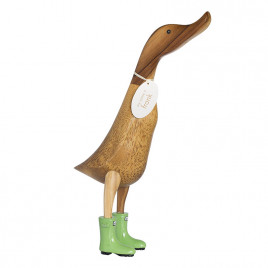 Natural Welly Duck - Spearmint Green Welly Boots