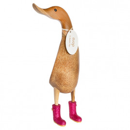 Disco Ducklet with Sparkly Pink Welly Boots