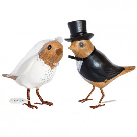 Bride and Groom Garden Birds