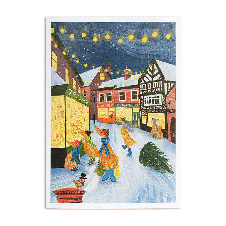 Christmas Shopping Greetings Card