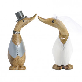 Wedding Gift Ducklings - Grey Top Hat and Coat