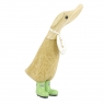 Coloured Welly Duckling - Spearmint Green