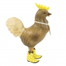 Natural Finish Cockerel with Yellow Spotty Cowboy Boots