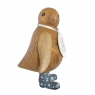 Natural Finish Baby Emperor Penguin with Grey Night Sky Welly Boots
