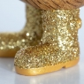 Disco Ducklet with Sparkly Gold Welly Boots
