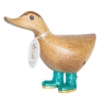Disco Ducky with Sparkly Aqua Welly Boots