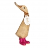 Disco Duckling with Sparkly Pink Welly Boots