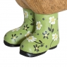 Floral Duckling with Green Hat and Welly Boots
