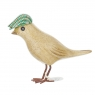 Dapper Garden Bird with a Green Flat Cap