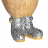 Disco Duckling with Sparkly Silver Welly Boots