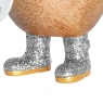 Disco Ducky with Sparkly Silver Welly Boots
