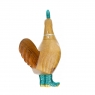 Disco Hen with Sparkly Aqua Blue Boots
