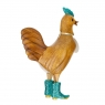 Disco Cockerel with Sparkly Aqua Blue Boots