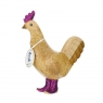 Disco Hen with Sparkly Purple Boots