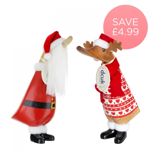 Bearded Santa Duckling & Reindeer Pack