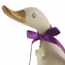 Personalised White Duckling with Red Crystal Heart (Pose 6)