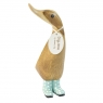 Natural Welly Duckling - Baby Blue Spotty