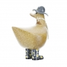 Ducky with Grey Floral Hat and Welly Boots