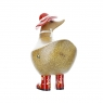 Ducky with Red Floral Hat and Welly Boots