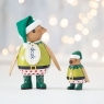 Cosy Christmas Penguin - Green Elf