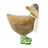 Natural Welly Walking Ducky - Green Spotty