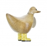 Natural Welly Walking Ducky - Yellow Spotty